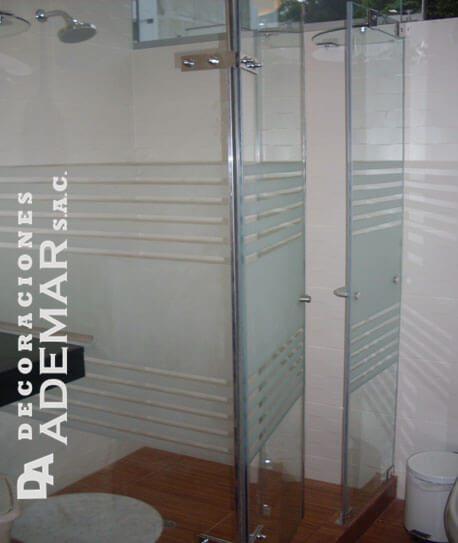 Puertas de duchas vidrio templado mamparas para tinas for Puerta cristal templado